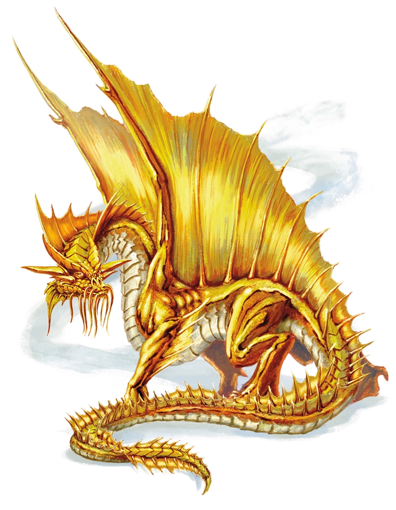 dnd 5e how fast does a gold dragon fly